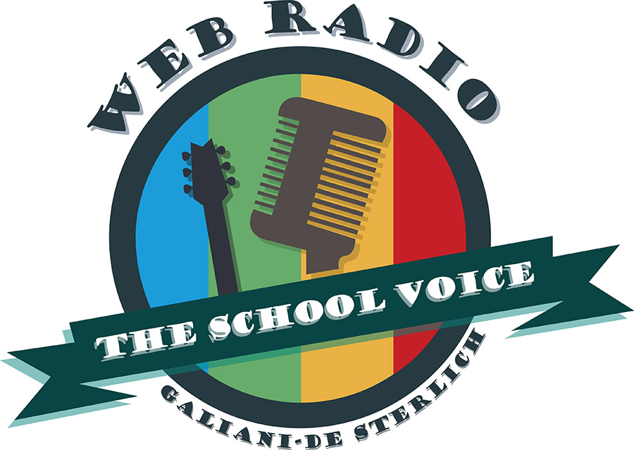 "Logo The school voice - Web radio ""Galiani de Sterlich"""